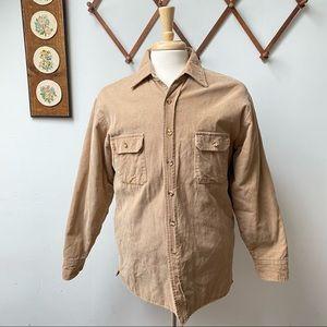 Vintage Corduroy Button Down Shirt Jacket